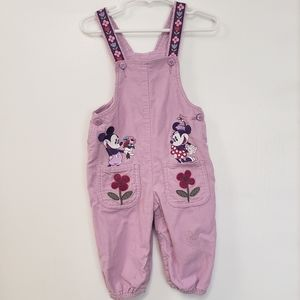 Embroidered Disney Mickey &Minnie Overalls